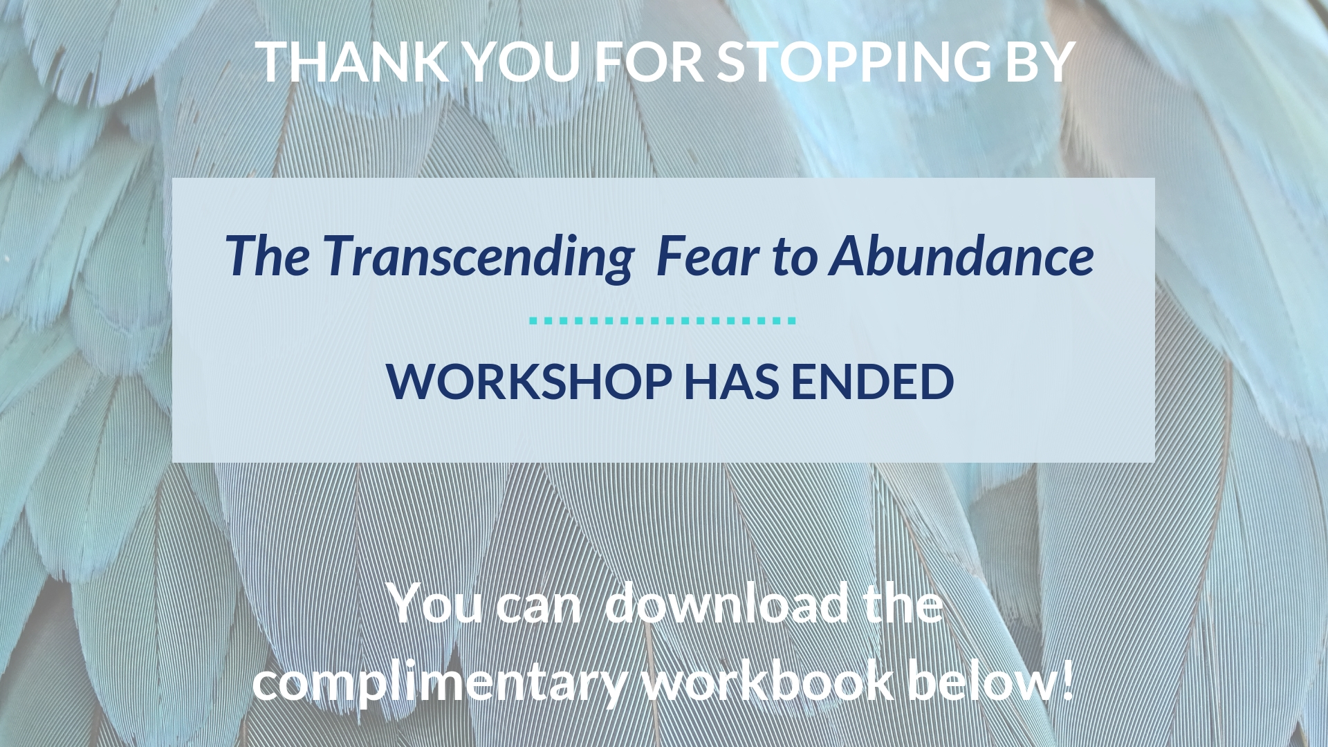 workshop has ended